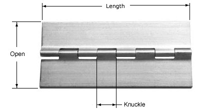 Continuous Hinges -- MS-20001 Extruded Aluminum Military Specification