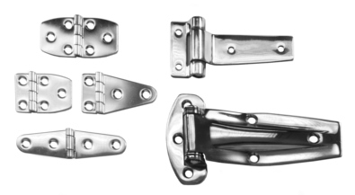 Polished Stainless Strap and T-Hinges