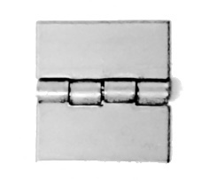 Aluminum Square Butt Hinges, Non-Removable Stainless Steel Pin