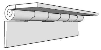 90 Degree Stop Piano Hinge - Continuous Hinges